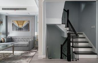 豪华型140平米四室两厅美式风格楼梯间图片