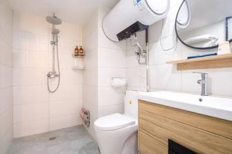 富裕型80平米公寓日式风格卫生间装修效果图