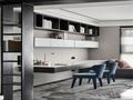 富裕型140平米三室一厅现代简约风格书房装修图片大全