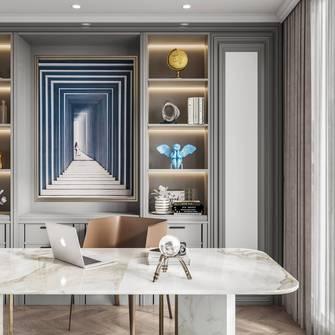 豪华型140平米四室三厅美式风格书房图片