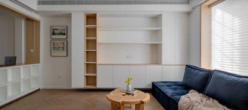 60平米现代简约风格客厅图
