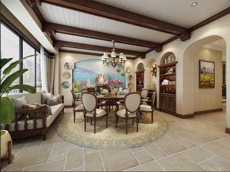 豪华型140平米别墅地中海风格餐厅效果图