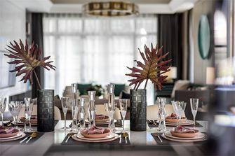 120平米三室两厅轻奢风格餐厅装修图片大全