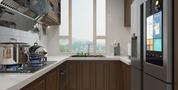 20万以上90平米法式风格厨房设计图