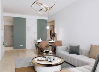 5-10万70平米三室一厅北欧风格客厅装修案例