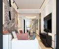 富裕型100平米三室一厅美式风格走廊装修案例