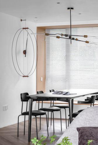 富裕型110平米三室一厅现代简约风格餐厅图片大全