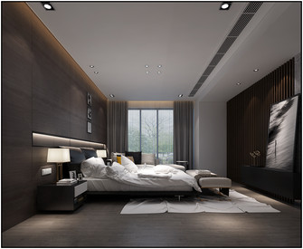 20万以上140平米现代简约风格卧室设计图