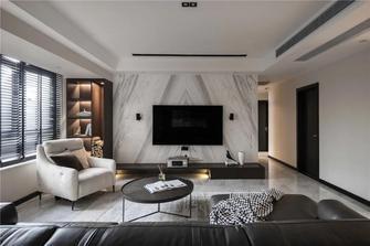 15-20万110平米现代简约风格客厅装修案例