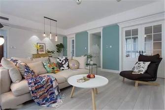 富裕型130平米三室两厅北欧风格客厅图片大全
