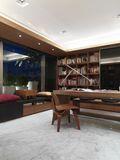 富裕型140平米三室两厅日式风格书房装修效果图