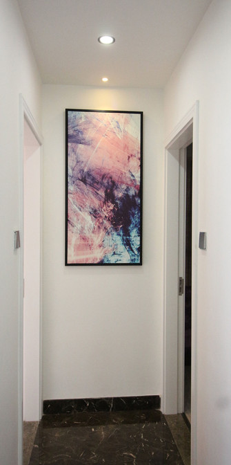 富裕型90平米三室一厅现代简约风格玄关欣赏图