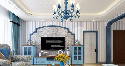 80平米一室两厅地中海风格客厅装修案例