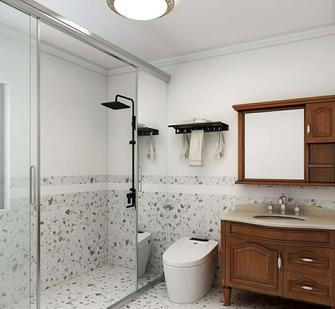 15-20万120平米三室两厅美式风格卫生间图片大全