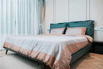 10-15万130平米三室两厅北欧风格卧室设计图