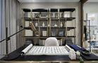 富裕型130平米三现代简约风格书房设计图