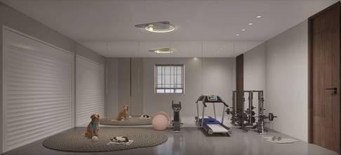 3万以下140平米四轻奢风格健身房装修效果图