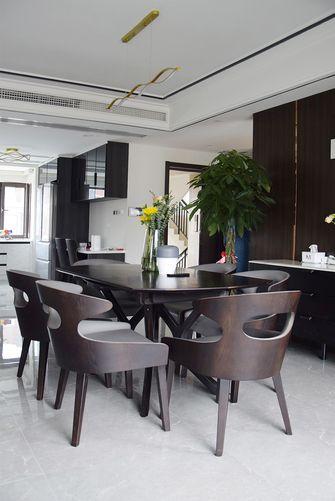 豪华型140平米三室两厅现代简约风格餐厅装修图片大全