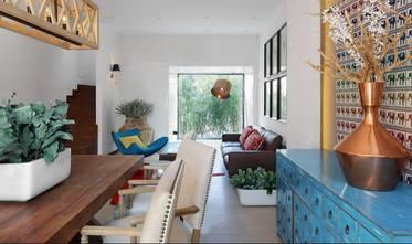 60平米混搭风格客厅图片