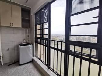 富裕型90平米三室两厅现代简约风格阳台欣赏图