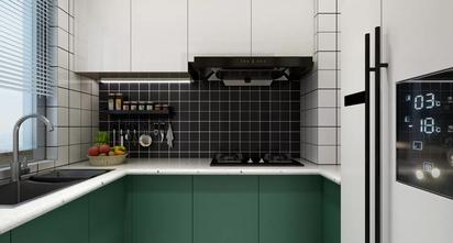 富裕型80平米一室两厅北欧风格厨房装修效果图