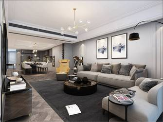 豪华型140平米三室两厅美式风格客厅装修案例