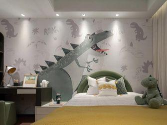 富裕型110平米三室一厅现代简约风格卧室装修图片大全