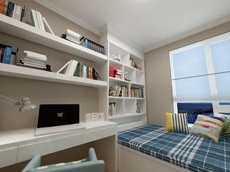 130平米三室两厅现代简约风格书房欣赏图