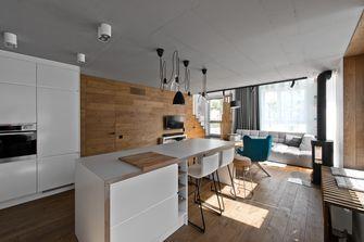 富裕型100平米四室两厅北欧风格厨房图