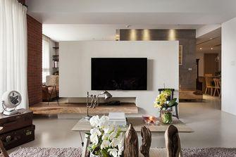 富裕型120平米三室一厅工业风风格客厅图片大全