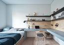 富裕型140平米三室一厅日式风格健身房装修案例