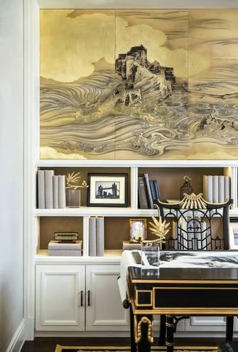 10-15万140平米三室两厅欧式风格书房设计图