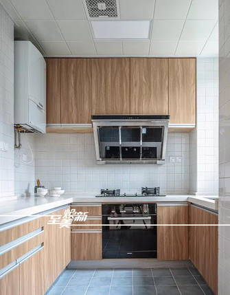 富裕型130平米三室两厅日式风格厨房图