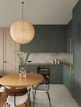富裕型公寓日式风格厨房装修效果图