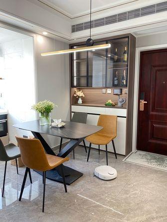 110平米三室两厅轻奢风格餐厅装修图片大全