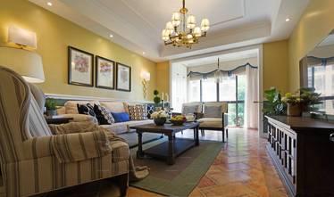 经济型80平米三室一厅美式风格客厅装修效果图