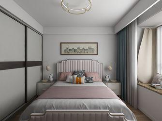 富裕型110平米三室一厅轻奢风格卧室图片大全