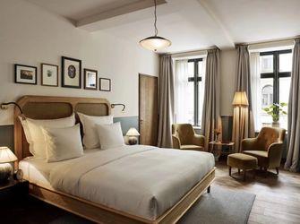富裕型60平米一室两厅田园风格卧室图片