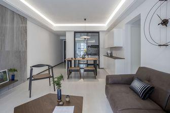 富裕型110平米三室两厅现代简约风格客厅图