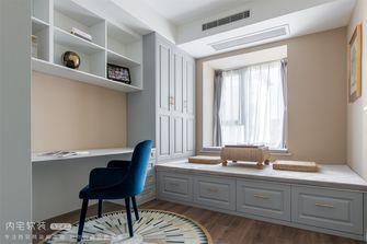 豪华型130平米三室两厅法式风格书房图