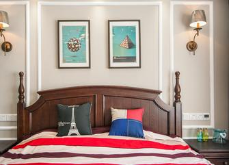 富裕型100平米三室两厅美式风格卧室图片
