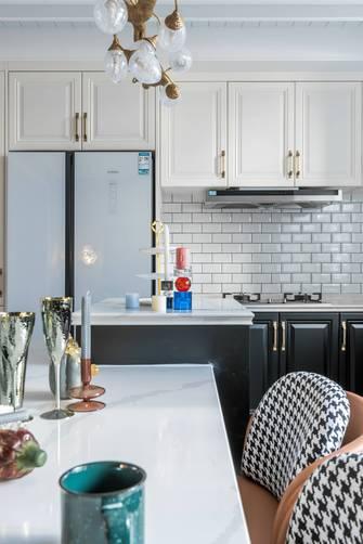 富裕型140平米三室两厅法式风格厨房装修图片大全