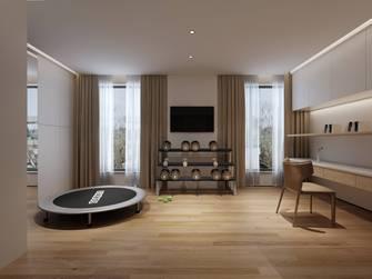 豪华型140平米别墅工业风风格健身房图片
