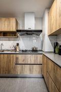 富裕型110平米三室一厅日式风格厨房效果图