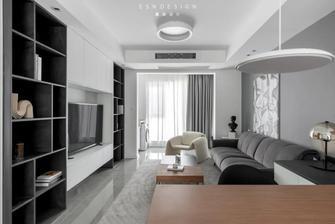 豪华型100平米三室两厅现代简约风格客厅图片