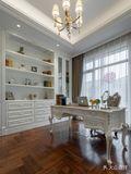 豪华型140平米别墅欧式风格书房欣赏图