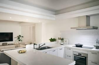 120平米三室两厅现代简约风格厨房图片