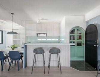 经济型50平米公寓混搭风格餐厅图片大全