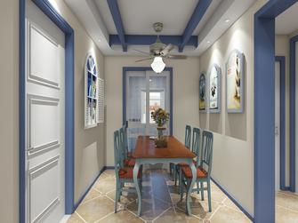 富裕型80平米三室两厅地中海风格餐厅图