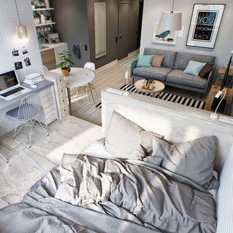 3万以下30平米超小户型北欧风格客厅图片